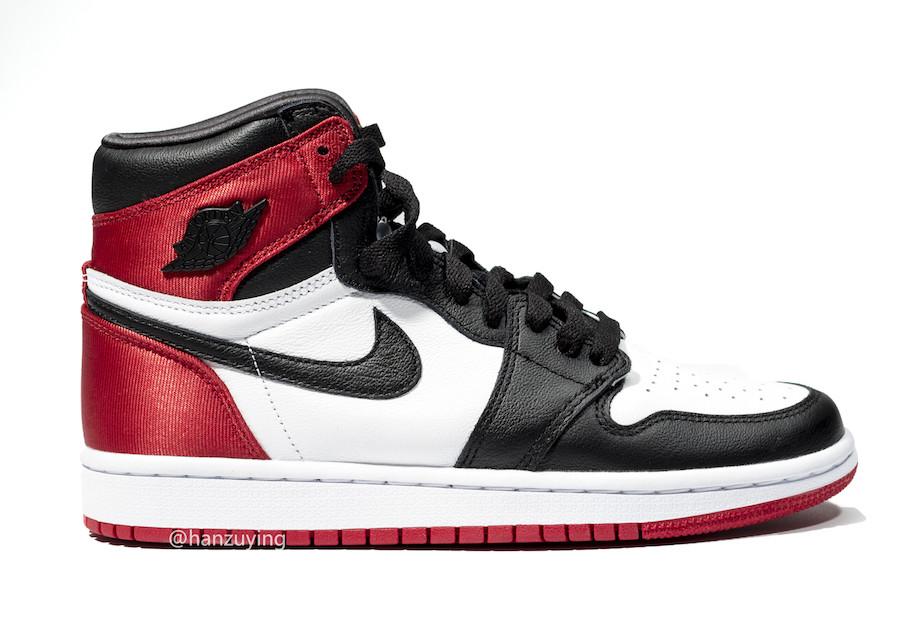 "Nike Air Jordan 1 Satin WMNS ""Black Toe"" (ナイキ エア ジョーダン 1 サテン ウィメンズ ""ブラック トゥ"")"