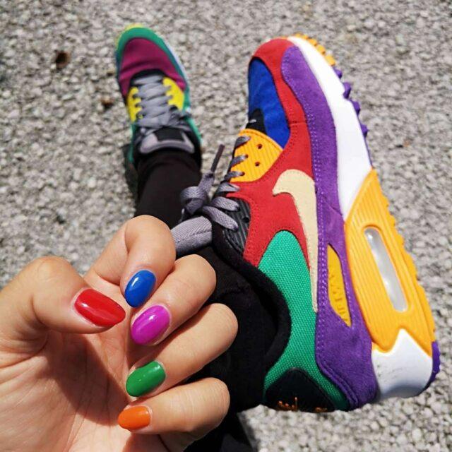 ネイル&スニーカー(Nike Air Max 90 Viotech)