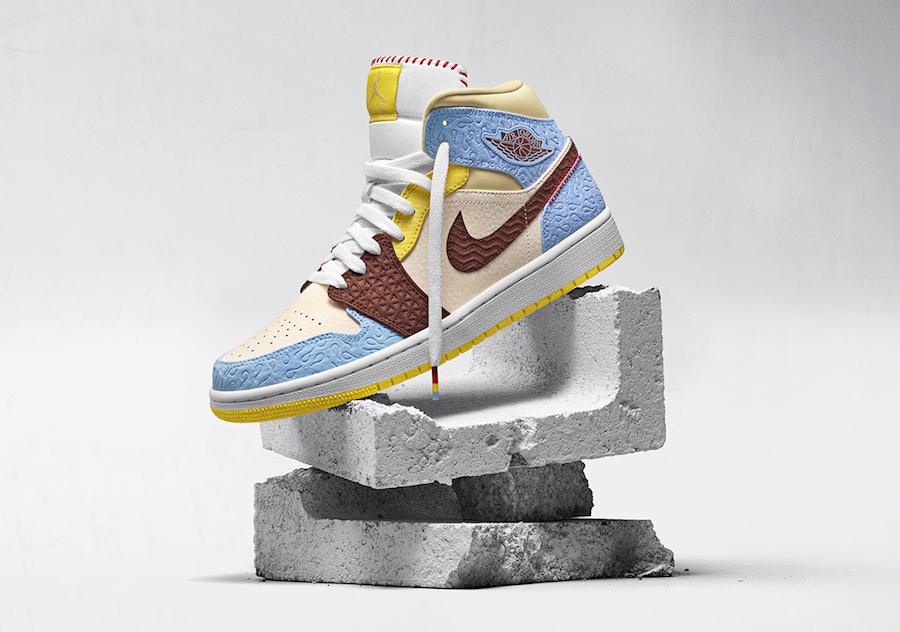 "Maison Chateau x Nike Air Jordan 1 Mid ""Fearless"" (メゾン シャトー ルージュ × ナイキ エア ジョーダン 1 ミッド ""フィアレス"")"