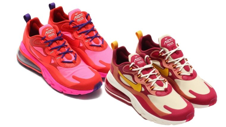 NIKE AIR MAX 270 REACT NOBLE RED DARK SULFUR-TEAM GOLD 19HO-I-11