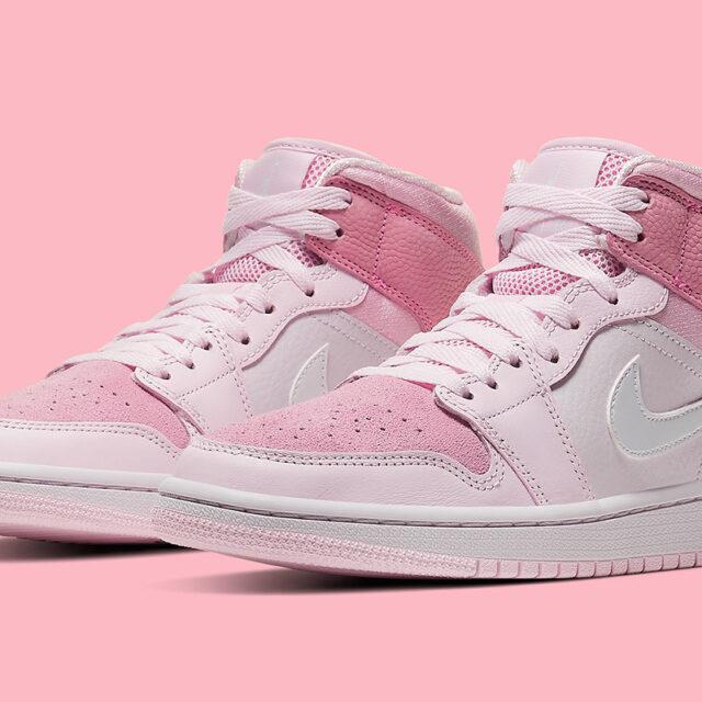 "Nike WMNS Air Jordan 1 Mid ""Digital Pink"" (ナイキ ウィメンズ エア ジョーダン 1 ミッド ""デジタル ピンク"") CW5379-600"