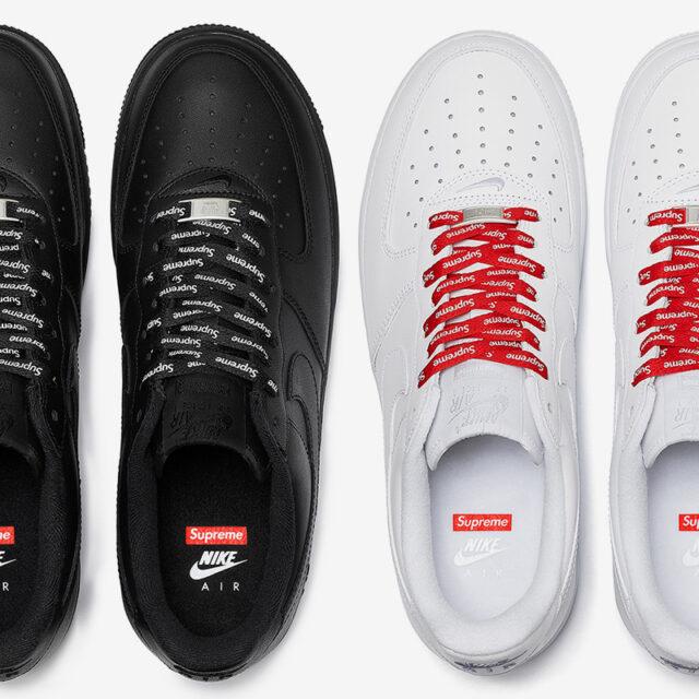 Supreme × Nike Air Force 1 (シュプリーム × ナイキ エア フォース 1) CU9225-101, CU9225-001