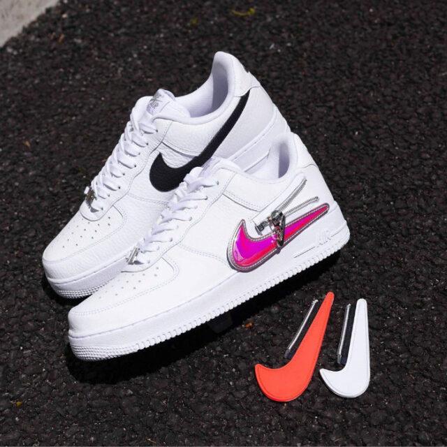 """Nike Air Force 1 """"Zipper Swoosh"""" (ナイキ エア フォース 1 """"ジッパー スウッシュ"""") CW6558-100, CW6558-001"""