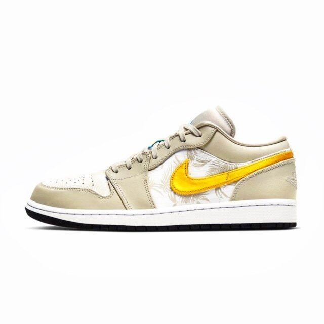 """エアジョーダン1 Low トロピカル柄(Nike Air Jordan 1 Low """"Palm Tree""""_CK3022-107)"""