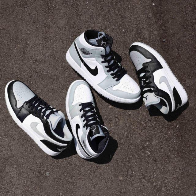 "Nike Air Jordan 1 Mid & Low ""Light Smoke Grey"" (ナイキ エア ジョーダン 1 ミッド & ロー ""ライト スモーク グレー"") 553558-039, 553560-039, 554724-092, 554725-092"