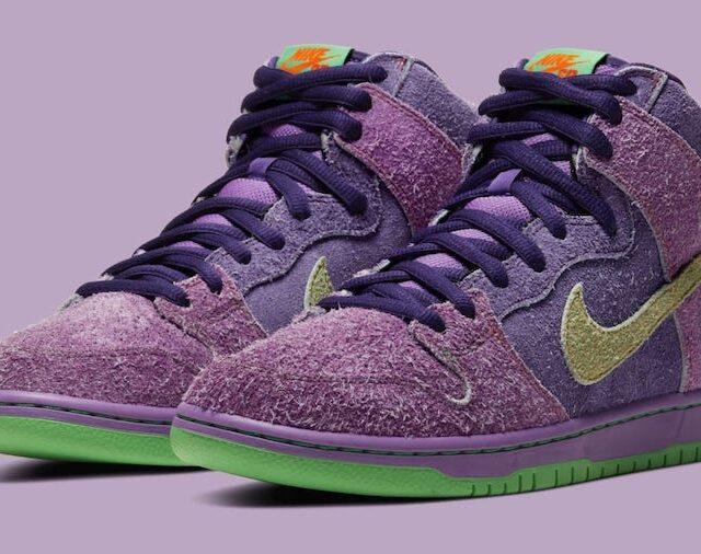 "Nike SB Dunk Hi ""Purple Skunk"" (ナイキ SB ダンク ハイ ""パープル スカンク"") CW9971-500"