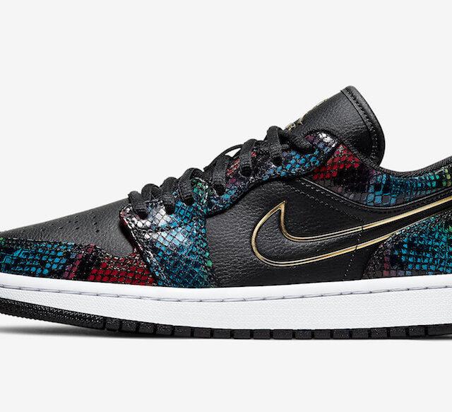 "Nike WMNS Air Jordan 1 Low ""Multi Snakeskin"" (ナイキ ウィメンズ エア ジョーダン 1 ロー ""マルチ スネークスキン"") CW5580-001"
