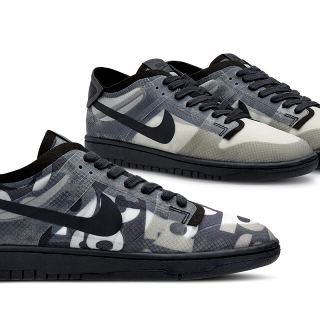 COMME DES GARÇONS × Nike Dunk Low WMNS (コム・デ・ギャルソン × ナイキ ダンク ロー ウィメンズ) CZ2675-001, CZ2675-002