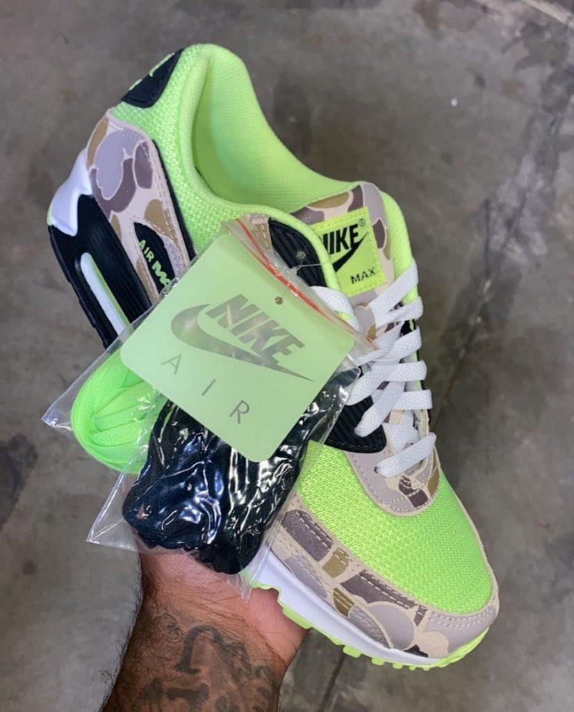 """Nike Air Max 90 """"Volt Duck Camo"""" (ナイキ エア マックス 90 """"ヴォルト ダック カモ"""") CW4039-300"""