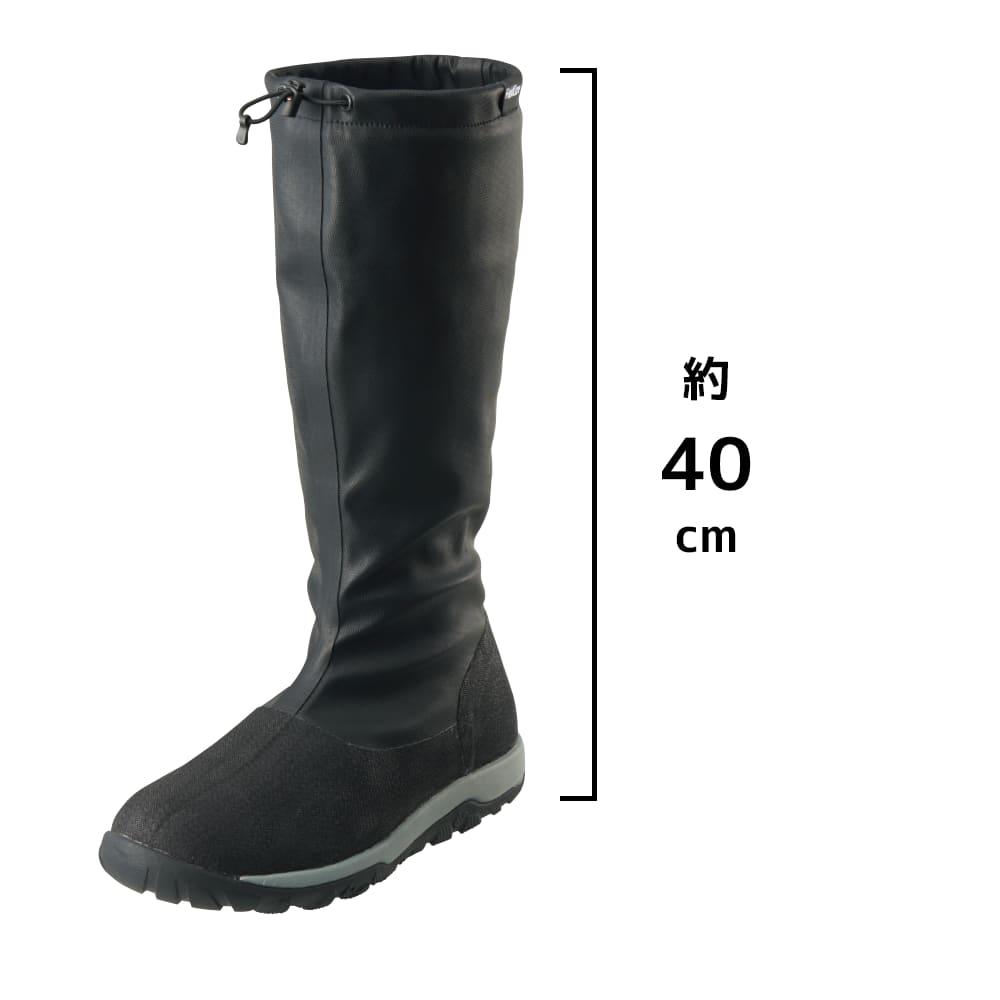 ワークマン防水FEST(フェスト)ブーツ スミクロ:workman_rainboots_festboots_2020_sumikuro_black