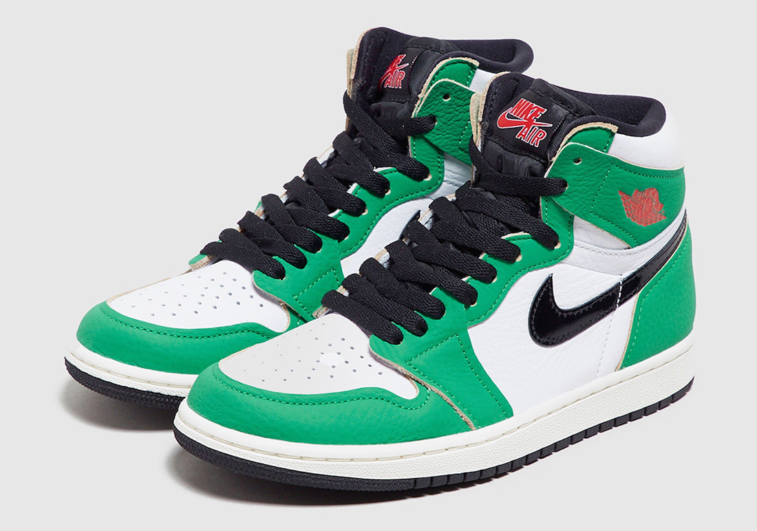 """Nike WMNS Air Jordan 1 High OG """"Lucky Green"""" (ナイキ ウィメンズ エア ジョーダン 1 ハイ OG """"ラッキー グリーン"""") DB4612-300 pair"""