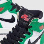 "Nike WMNS Air Jordan 1 High OG ""Lucky Green"" (ナイキ ウィメンズ エア ジョーダン 1 ハイ OG ""ラッキー グリーン"") DB4612-300 pair tan"