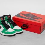 "Nike WMNS Air Jordan 1 High OG ""Lucky Green"" (ナイキ ウィメンズ エア ジョーダン 1 ハイ OG ""ラッキー グリーン"") DB4612-300 pair shoe box"