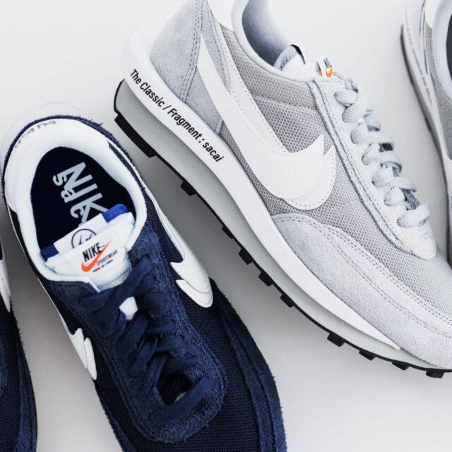 フラグメント サカイ ナイキ LDワッフル コラボ Fragment x sacai x Nike LD Waffle Navy Grey
