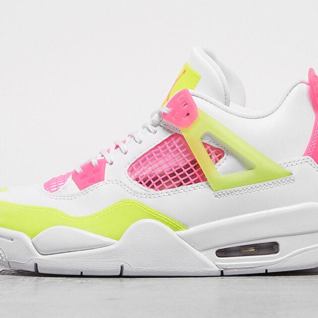 """Nike Air Jordan 4 GS """"Lemon Venom"""" (ナイキ エア ジョーダン GS """"レモン ヴェノム"""") CV7808-100"""