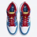 """Nike SB Dunk High """"Doraemon"""" (ナイキ SB ダンク ハイ """"ドラえもん"""") CI2692-400 above"""
