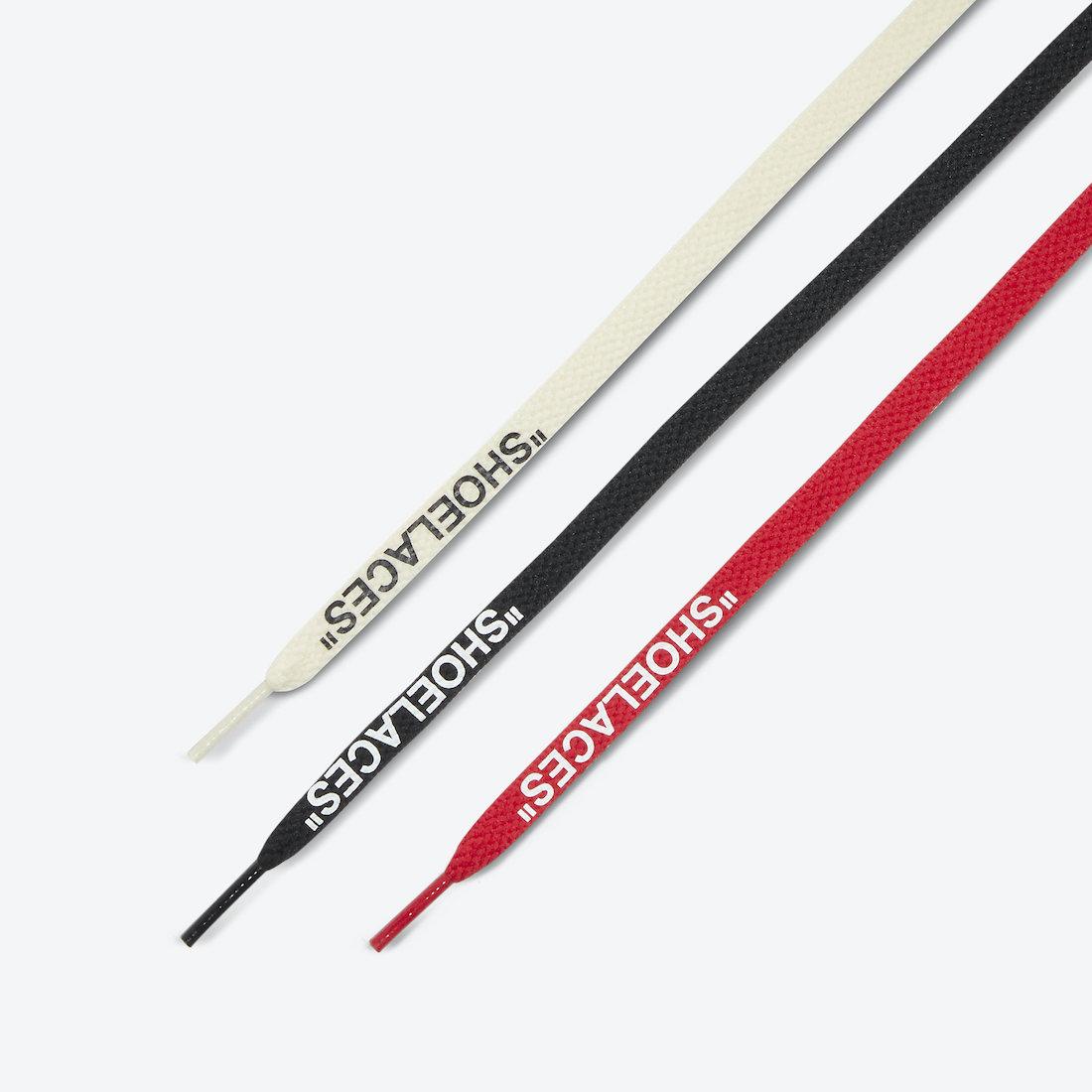 オフホワイト ナイキ コラボ エア ジョーダン 5 セイル Off-White Nike Air Jordan 5 Sail Fire Red DH8565-100 shoelace