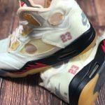 "Off-White × Nike Air Jordan 5 ""Sail"" (オフホワイト × ナイキ エア ジョーダン 5 ""セイル"") DH8565-100"