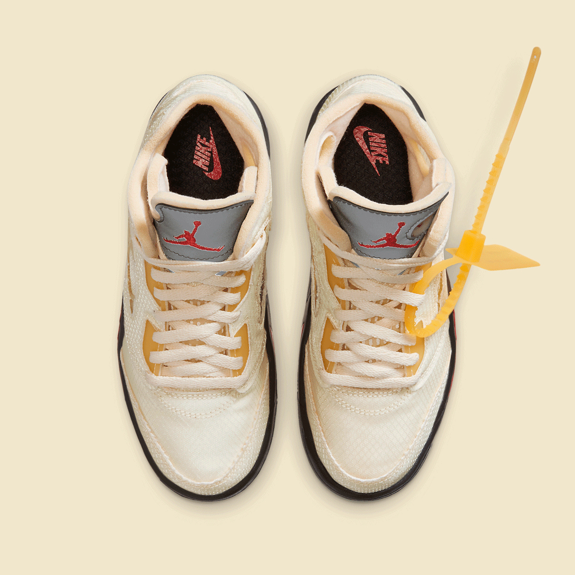 Off-White Nike Air Jordan 5 PS Sail CV4827-100 オフホワイト ナイキ コラボ エア ジョーダン 5 セイル プレスクール キッズ top