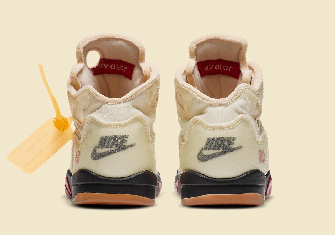 Off-White Nike Air Jordan 5 PS Sail CV4827-100 オフホワイト ナイキ コラボ エア ジョーダン 5 セイル プレスクール キッズ back