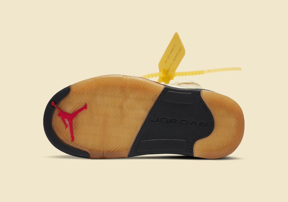 Off-White Nike Air Jordan 5 PS Sail CV4827-100 オフホワイト ナイキ コラボ エア ジョーダン 5 セイル プレスクール キッズ sole