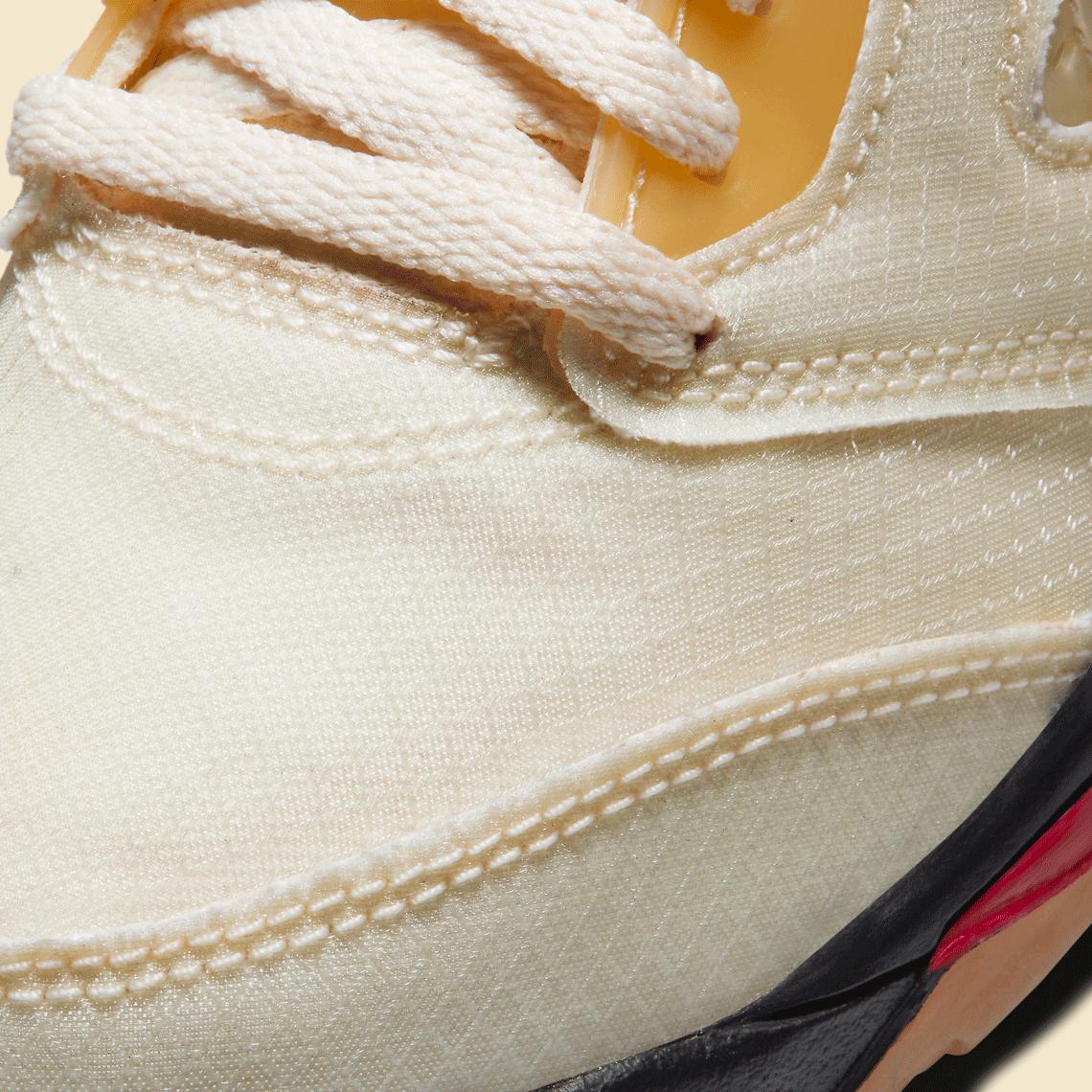 Off-White Nike Air Jordan 5 PS Sail CV4827-100 オフホワイト ナイキ コラボ エア ジョーダン 5 セイル プレスクール キッズ close toe