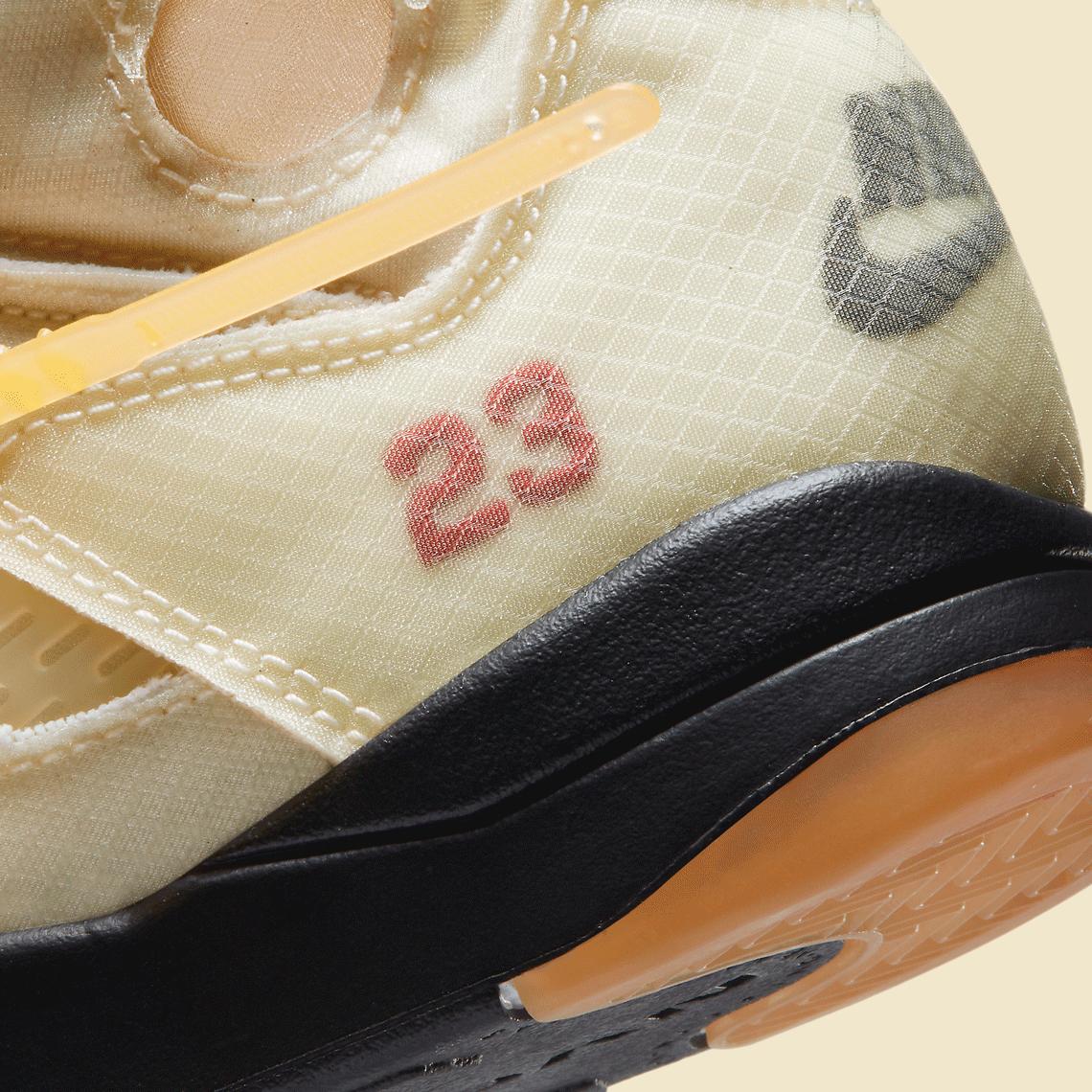 Off-White Nike Air Jordan 5 PS Sail CV4827-100 オフホワイト ナイキ コラボ エア ジョーダン 5 セイル プレスクール キッズ close heel