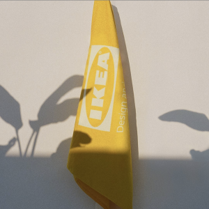 IKEA公式のアパレルブランドEFTERTRÄDA(エフテルトレーダ )コレクション, バスタオル黄色