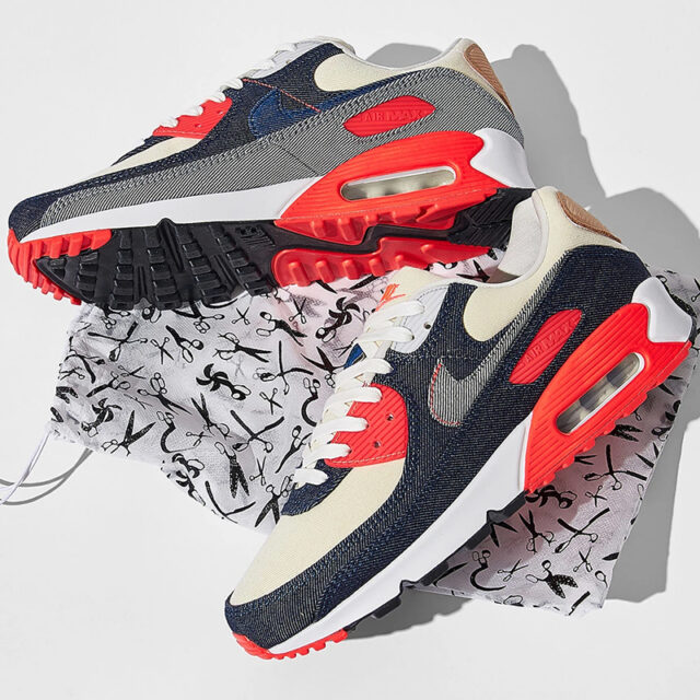 "Denham × Nike Air Max 90 ""Infrared"" (デンハム × ナイキ エア マックス 90 ""インフラレッド"") main"