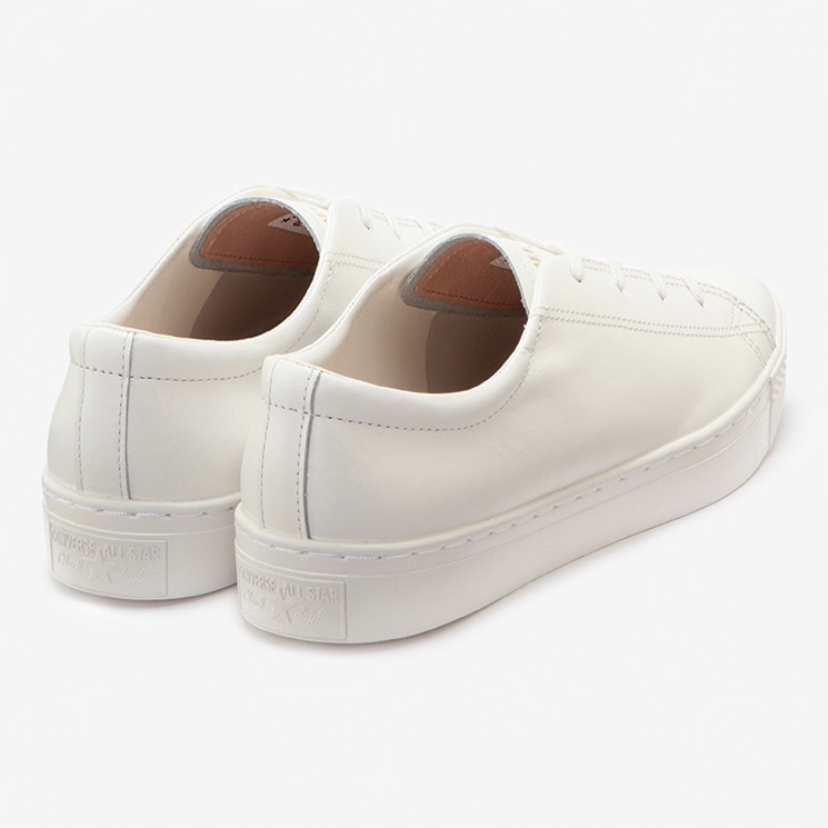 CONVERSE ALL STAR COUPE POINTUE LEATHER OX & SNK OX コンバース オールスター クップ ポワンテュ レザー OX back