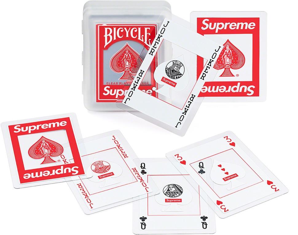 supreme 2020FW week1 シュプリーム 2020年 秋冬 Bicycle-Clear-Playing-Cards