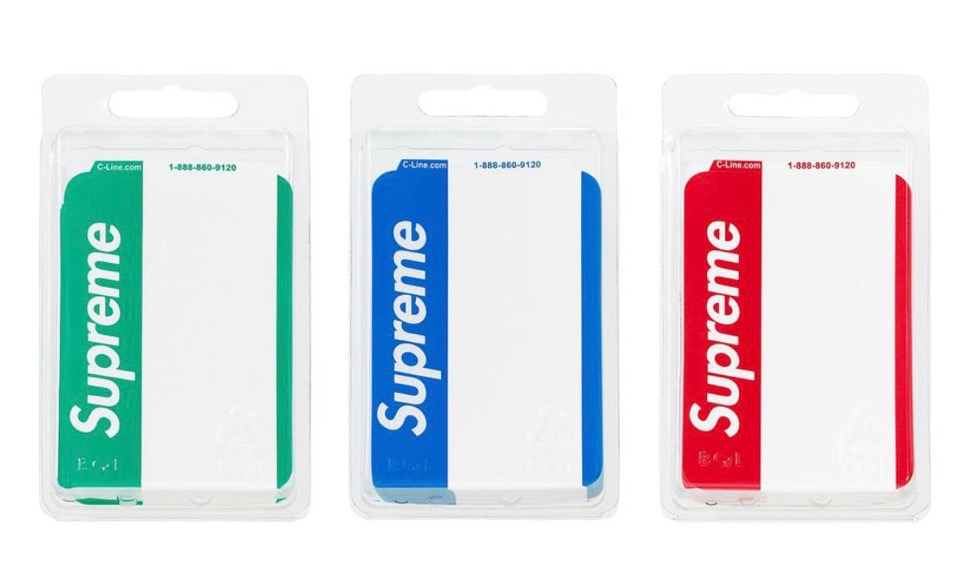 supreme 2020FW week1 シュプリーム 2020年 秋冬 Name-Badge-Stickers-Pack-of-100