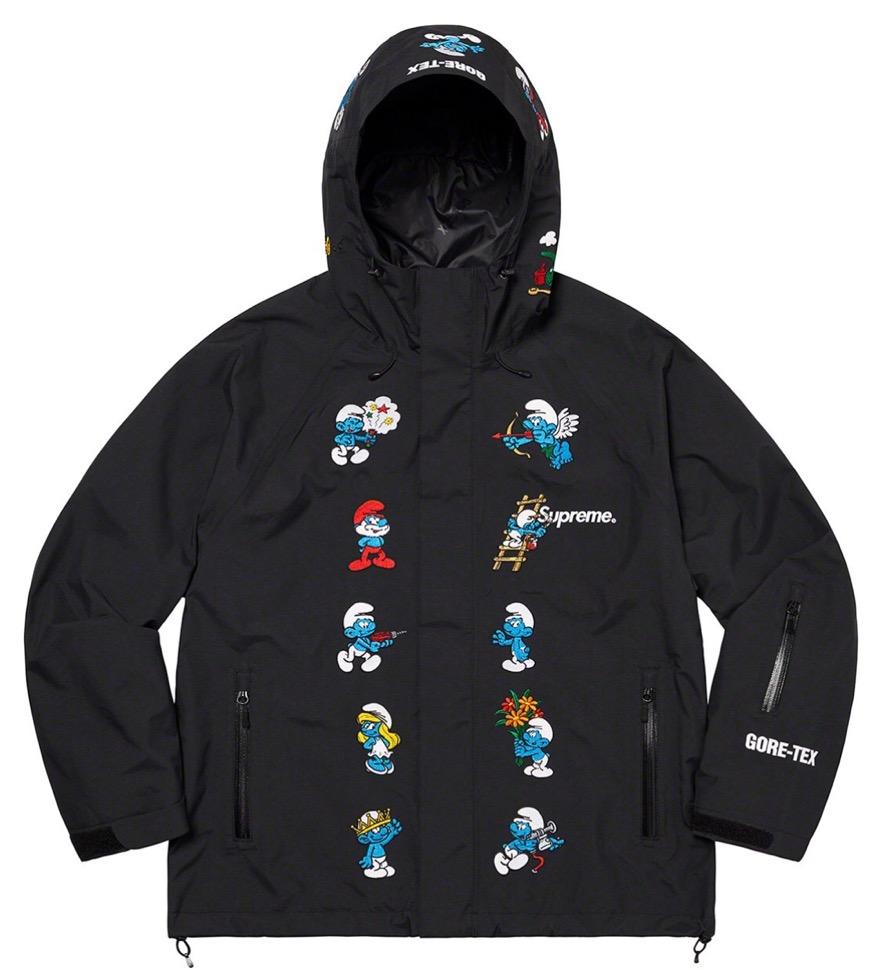 supreme 2020FW week1 シュプリーム 2020年 秋冬 Smurfs-GORE-TEX-Shell-Jacket black