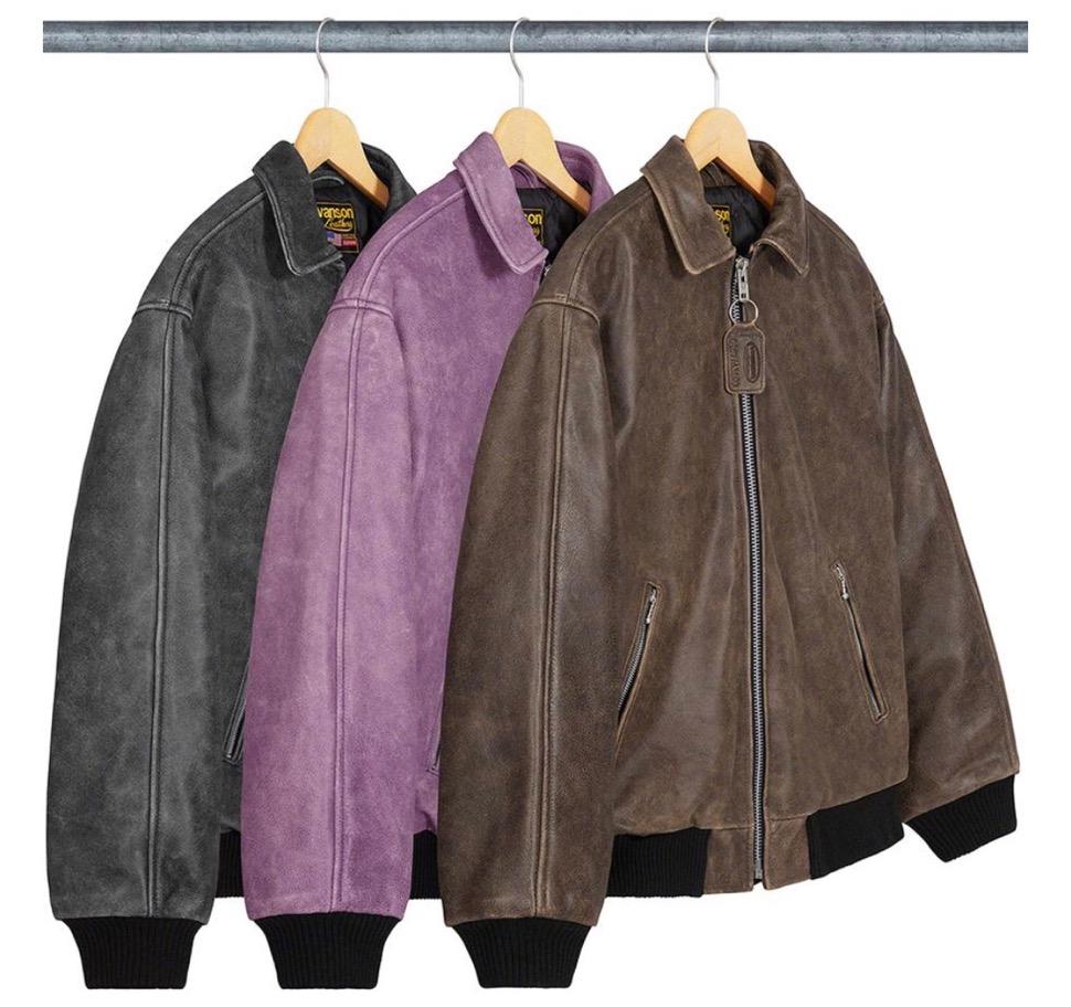 supreme 2020FW week1 シュプリーム 2020年 秋冬 Vanson-Leathers-Worn-Leather-Jacket