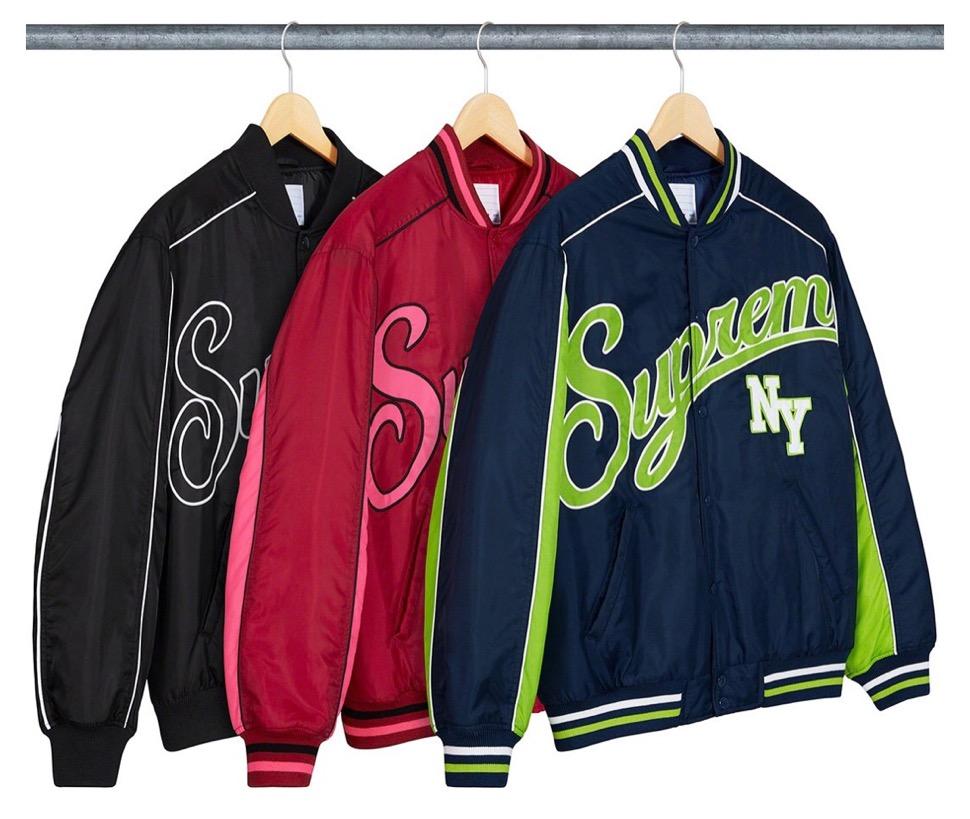 supreme 2020FW week1 シュプリーム 2020年 秋冬 Contrast-Script-Varsity-Jacket color