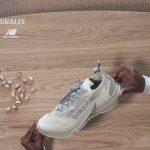 AURALEE × New Balance FuellCell Speedrift (オーラリー × ニューバランス フューエルセル スピードリフト) advertisement white on a table