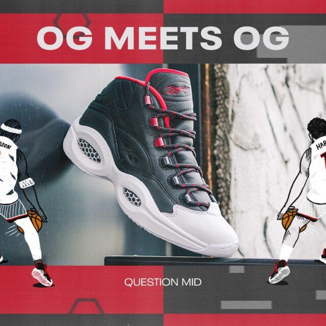 """Reebok IVERSON×HARDEN QUESTION MID """"OG Meets OG"""" (リーボック アイバーソン × ハーデン クエスチョン ミッド """"OG ミーツ OG"""") FZ1365"""