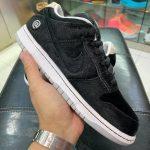 """Medicom Toy × Nike SB Dunk Low """"BE@RBRICK"""" (メディコム トイ × ナイキ SB ダンク ロー """"ベアブック"""") CZ5127-001 side leak"""