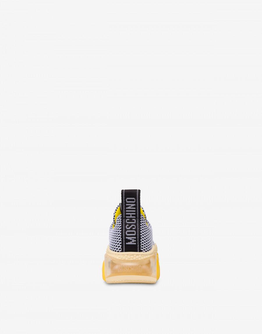 Moschino Teddy bubble Shoe モスキーノ テディ― バブル シューズ MA15553G2B11010A yellow back