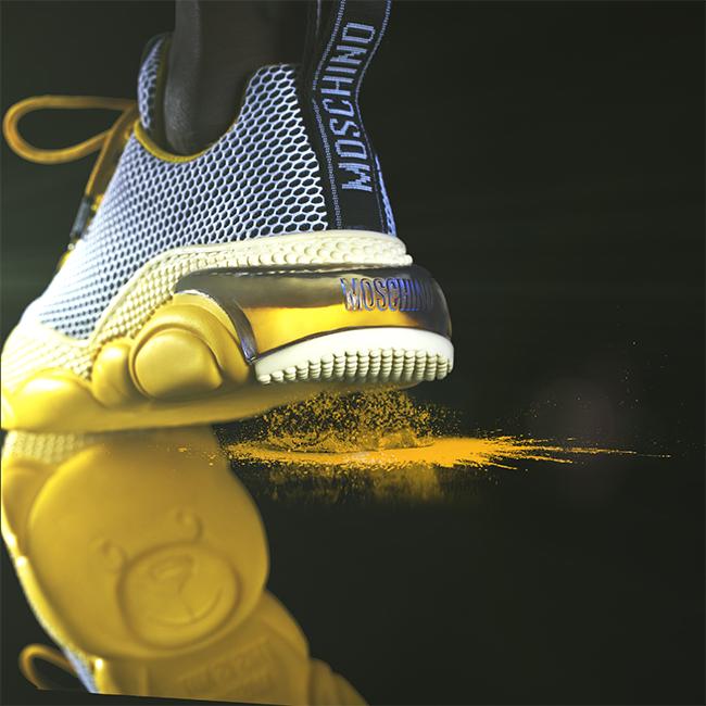 Moschino Teddy bubble Shoe モスキーノ テディ― バブル シューズ MA15553G2B11010A yellow wearing