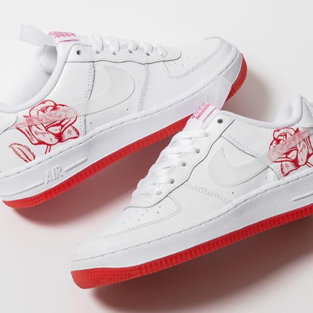 "Nike Air Force 1 GS ""University Red Rose"" (ナイキ エア フォース 1 GS ""ユニバーシティ レッド ローズ"") CN8534-100"