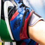 "Nike WMNS Air Jordan 1 ""Patent Brend"" (ナイキ ウィメンズ エア ジョーダン 1 ""パテント ブレンド"") CV5276-001 43einhalb side"