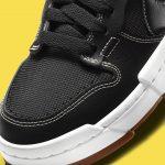 Nike Dunk Low Disrupt Black CK6654-002 ナイキ ダンク ロー ディスラプト ブラック close heel