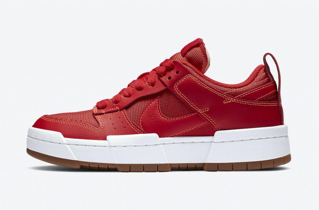 ナイキ ダンク ロー ディスラプト レッド ガム Nike Dunk Low Disrupt Red Gum CK6654-600 outside