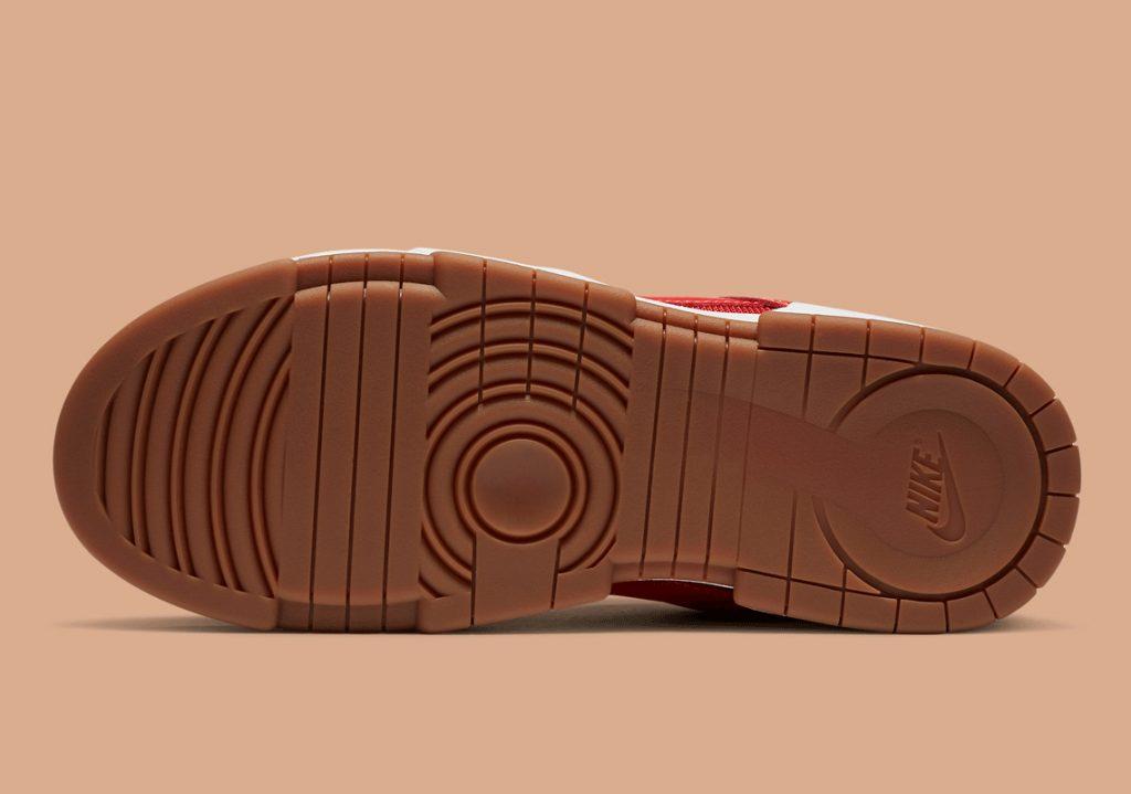 ナイキ ダンク ロー ディスラプト レッド ガム Nike Dunk Low Disrupt Red Gum CK6654-600 sole