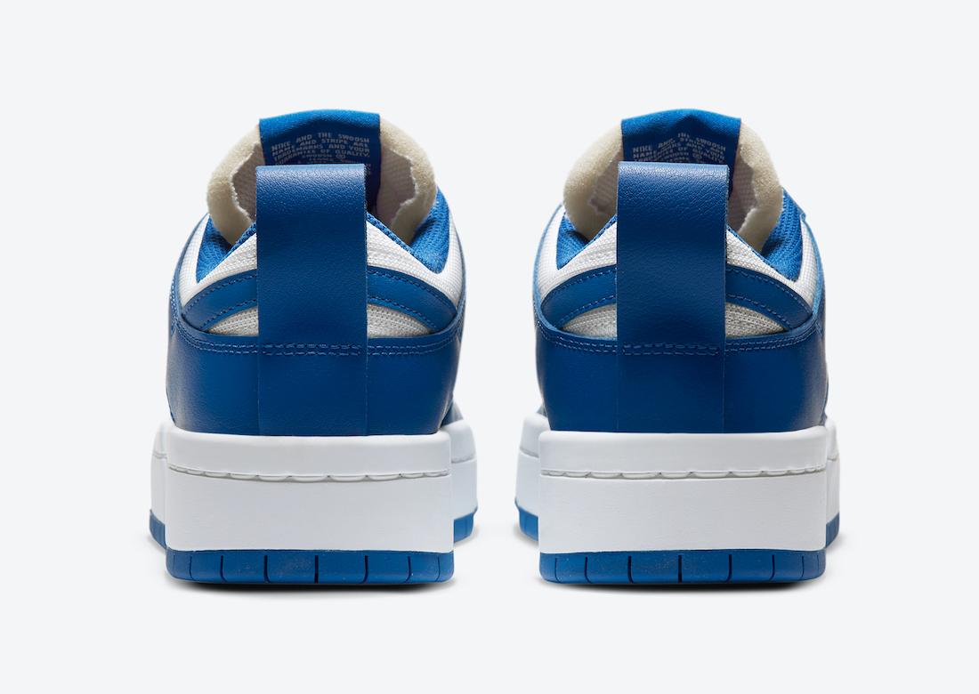 Nike WMNS Dunk Low Disrupt ナイキ ダンク ロー ディスラプト CK6654-100 Game Royal back