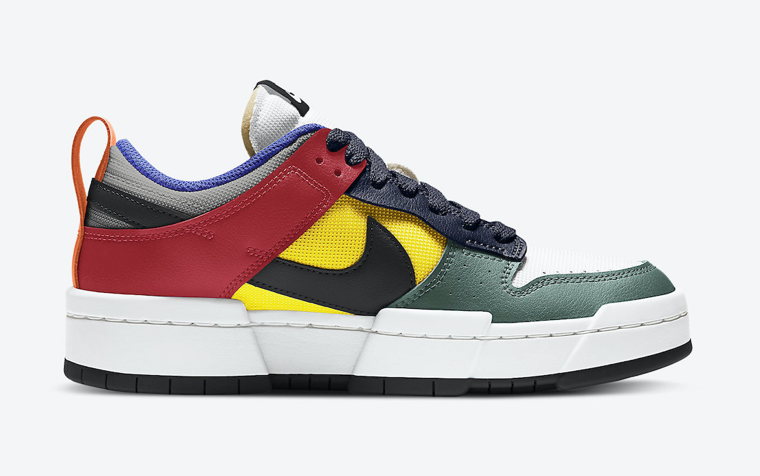 Nike WMNS Dunk Low Disrupt ナイキ ダンク ロー ディスラプト CK6654-104 Multi-Color side