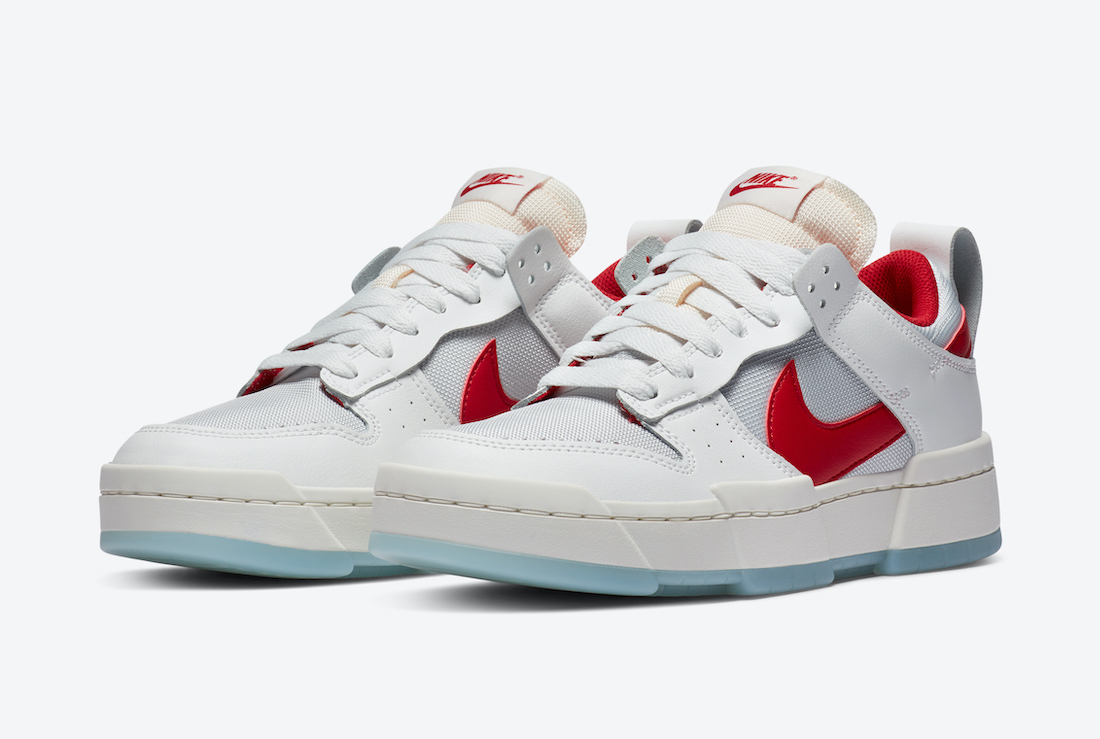 Nike WMNS Dunk Low Disrupt ナイキ ダンク ロー ディスラプト CK6654-101 Gym Red front