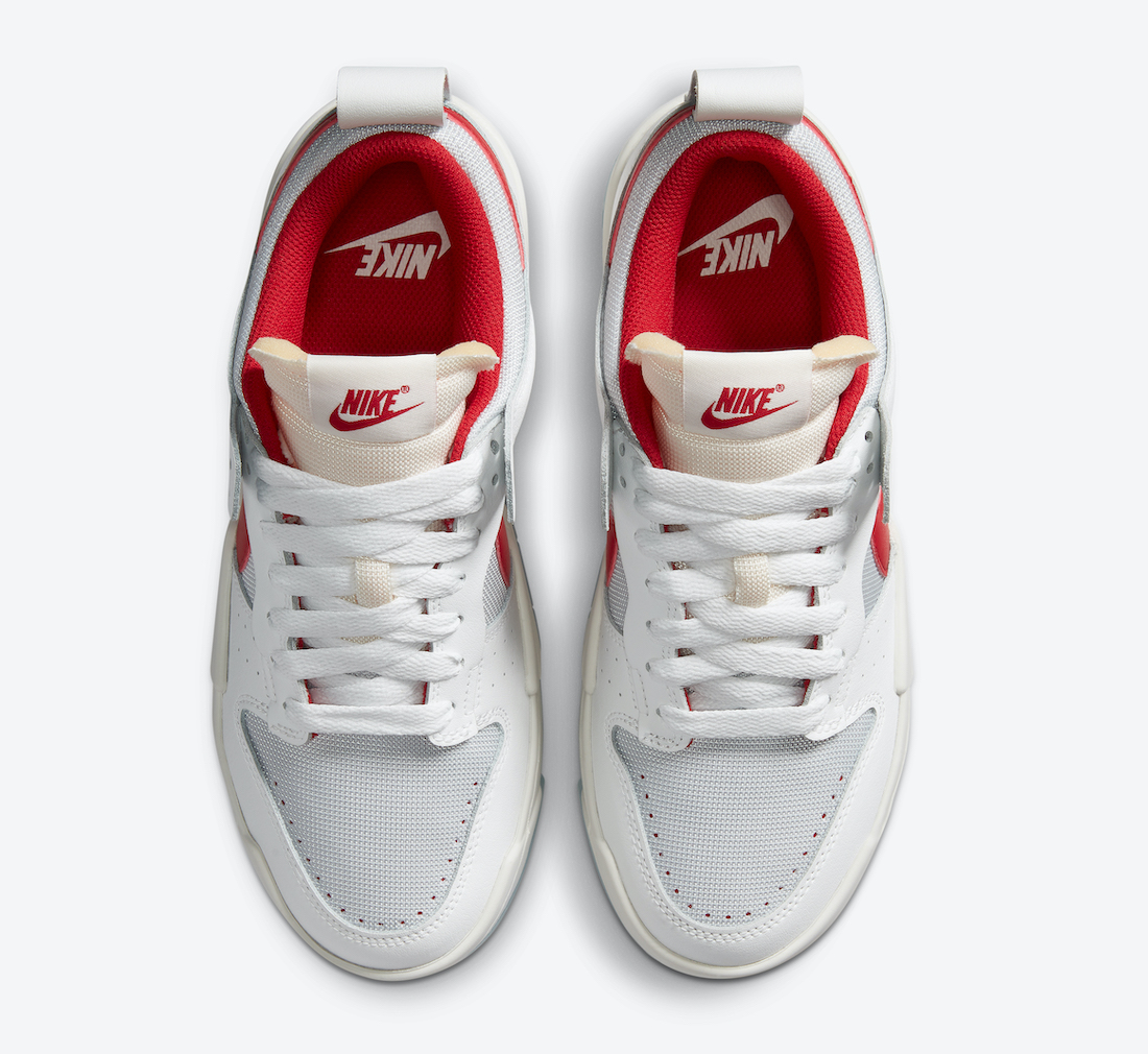 Nike WMNS Dunk Low Disrupt ナイキ ダンク ロー ディスラプト CK6654-101 Gym Red above