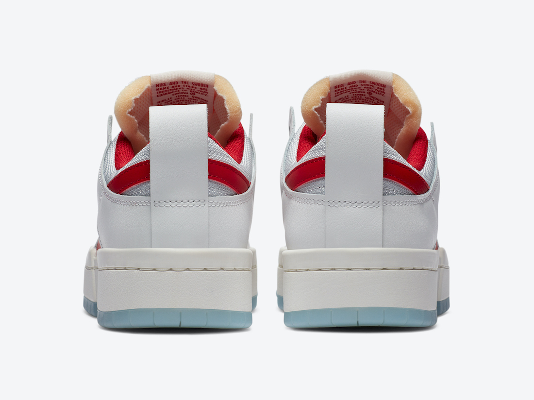 Nike WMNS Dunk Low Disrupt ナイキ ダンク ロー ディスラプト CK6654-101 Gym Red back